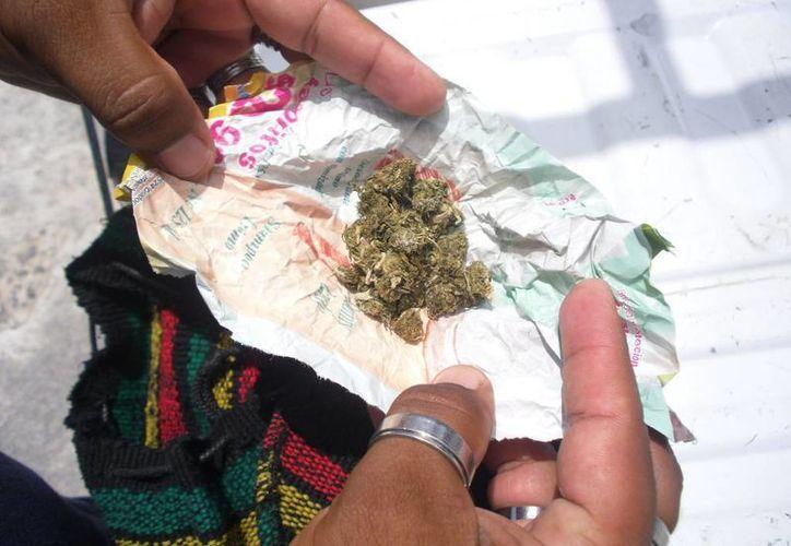 Actualmente en México, solamente se permite la posesión de 5 gramos de marihuana para consumo personal. (Archivo/SIPSE)