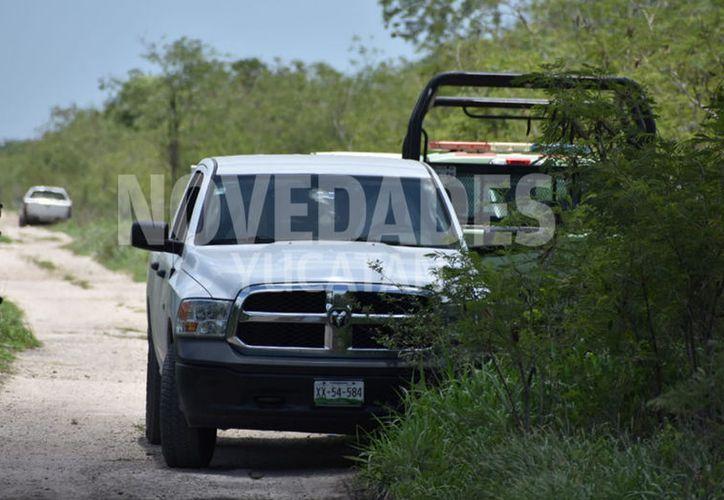 Hasta el lugar llegaron miembros del Ejército. (Gerardo Keb/Novedades Yucatán)