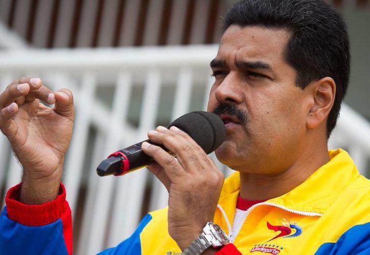Maduro aparecía con el rostro distorsionado en la polémica imagen. (EFE)