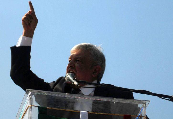 """""""No hay de parte de nosotros ninguna irregularidad"""" aseguró López Obrador. (Archivo/Notimex)"""