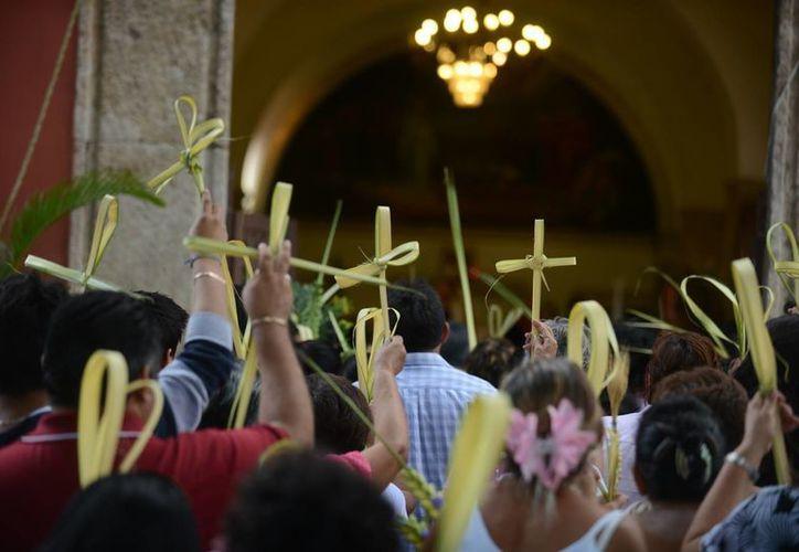 El Domingo de Ramos marcó el inicio de las actividades de Semana Santa. (Luis Pérez/SIPSE)