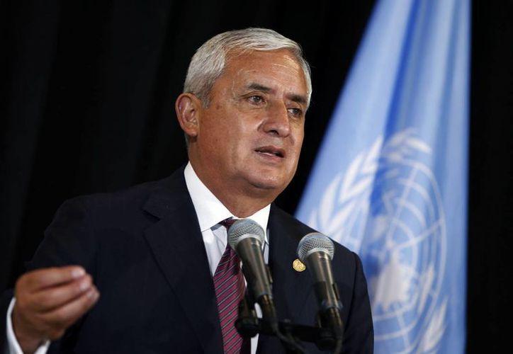 El presidente de Guatemala, Otto Pérez Molina, en la asamblea de la ONU este miércoles. (Agencias)