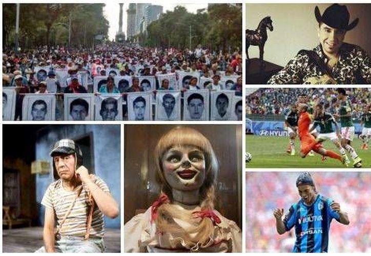 Ayotzinapa, 'Anabelle', 'Chespirito' y No era penal fue de lo más buscado en Google en México. (Milenio Digital)