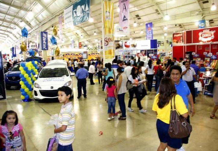 La edición 2015 de la Expoferia del Comercio ofrecerá a los asistentes nuevas opciones de diversión con el fin de consolidarse como una de las más importantes en el sureste. (Archivo Sipse)