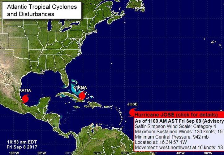El huracán José está siguiendo el mismo recorrido que Irma. (NOAA)