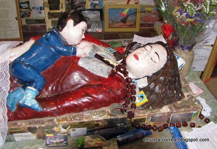 Santuario en honor a Deolinda Correa. Aseguran que lo que ocurrió fue un milagro. (Jorge Moreno/SIPSE)