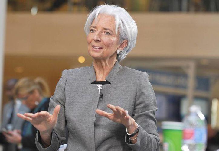 Christine Lagarde, directora del FMI, dijo que México podría alcanzar un crecimiento económico de hasta un 4.0%. (Archivo/Notimex)