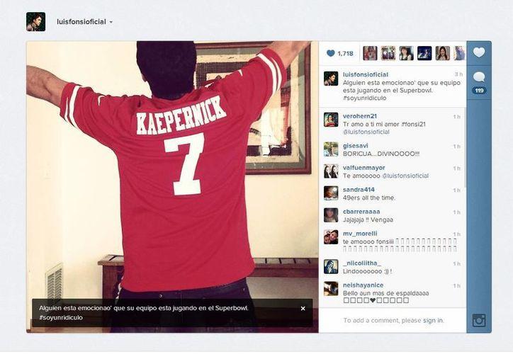 Luis Fonsi se dijo emocionado con el encuentro deportivo. (instagram.com)