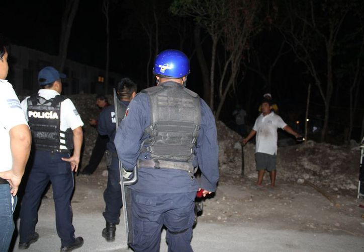 De los 30 presuntos implicados en la riña, la policía preventiva aprehendió a 16. (Sara Cauich/SIPSE)