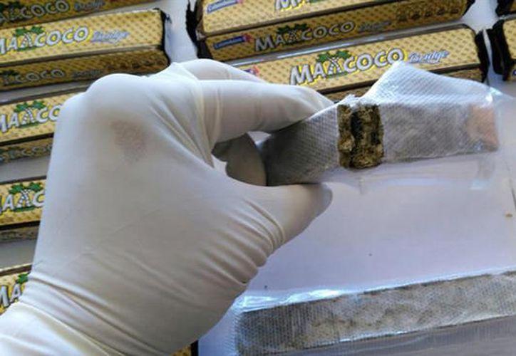 Medio kilogramo de marihuana fue detectado al interior de una caja de galletas, en Tekax, Yucatán. (Contexto/Internet)