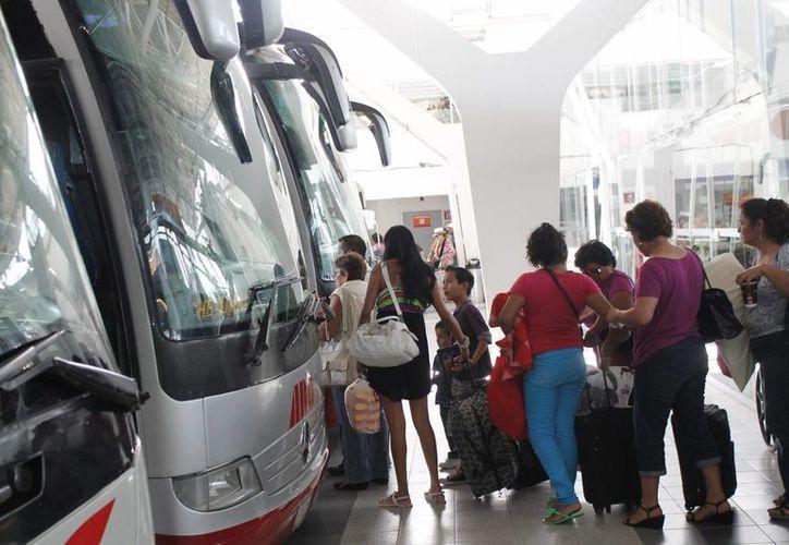 La empresa protegió la integridad de los pasajeros. (Israel Leal/SIPSE)