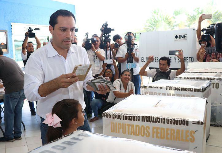 Mauricio mantiene ventaja en el conteo preliminar de la Elección a Gobernador de Yucatán. (Milenio Novedades)