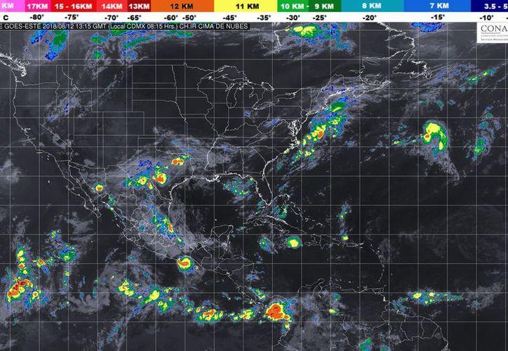 Durante el día de hoy se espera un cielo parcialmente cubierto, con probabilidad de tormenta en Playa del Carmen. (Conagua)