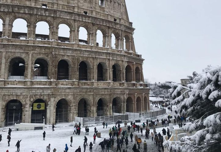 "La ""Bestia del Este"", como la llama la prensa inglesa, cubrió de nieve Roma. (Anna Buj)"