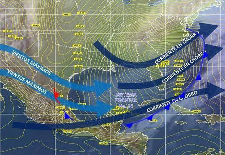 La última vez que se registró una tempertura baja en Cancún fue en el 2013. (Conagua)