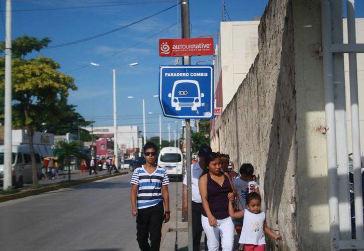 Son 30 paraderos los que están ubicados desde la Avenida Juárez hasta la avenida Colosio. (Loana Segovia/SIPSE)