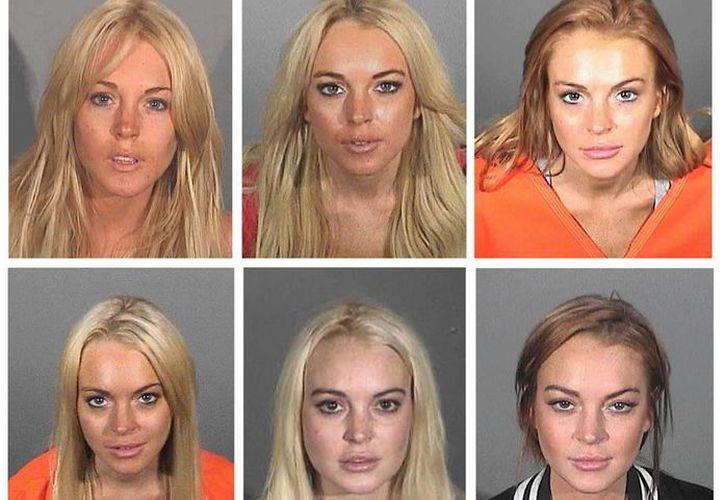 Como ejemplo, las fotos de la actriz Lindsay Lohan quien ha estado varias veces detenida. (Internet)
