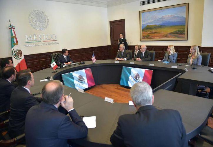 Las autoridades mexicanas reconocieron el profesionalismo de los secretarios del gobierno de Donald Trump. (Presidencia)