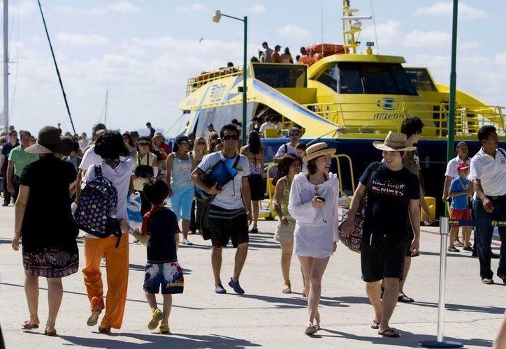 Alrededor de cinco mil 500 pasajeros que se movilizan en promedio diario. (Redacción/SIPSE)