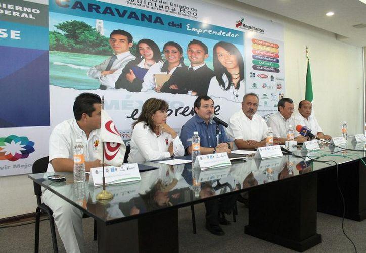 El comité organizador dijo que esta es la tercera edición de las Caravanas del Emprendedor que se realiza en Quintana Roo. (Cortesía/SIPSE)