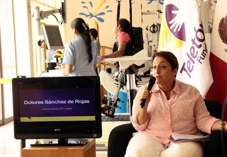 Dolores Sánchez de Rojas, directora general del CRIT Yucatán, invita a la sociedad a  que 'venga, conozca y compruebe por sí misma todo lo que hacemos en Teletón'. (SIPSE)