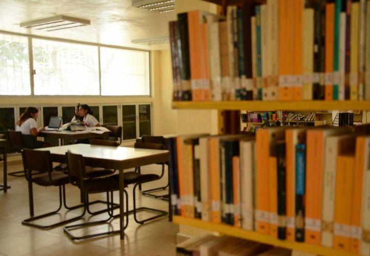 La biblioteca pública tiene ejemplares de nivel medio superior y superior. (Redacción/SIPSE)