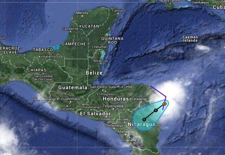 La Conagua publicó en su cuenta de Twitter la trayectoria prevista de la tormenta tropical Hanna. (twitter.com/conagua_mx)