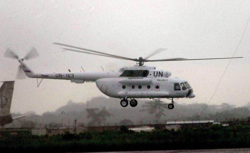 Fotografía de un helicóptero de la ONU. (EFE)