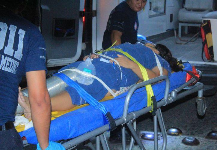La mujer fue trasladada de emergencia al Hospital General. (Redacción/SIPSE)