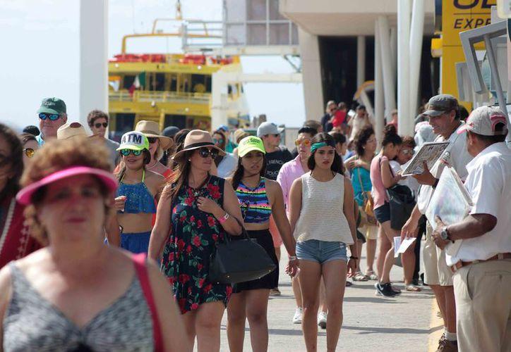 Todo apunta a que la Semana Santa 2017 dejará buenos dividendos a quienes dependen de los ingresos de la actividad turística en la isla de Cozumel. (Gustavo Villegas/SIPSE)