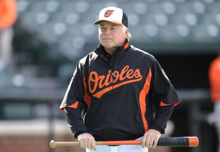 Buck Showalter, mánager de Orioles de Baltimore que ganó un tercer galardón como mejor coach de la temporada en Grandes Ligas. (deadspin.com/Foto de archivo)