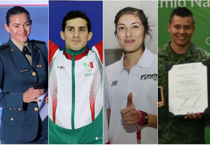 Algunos atletas que han puesto el nombre de México en alto, forman parte de las fuerzas armadas. (Milenio)