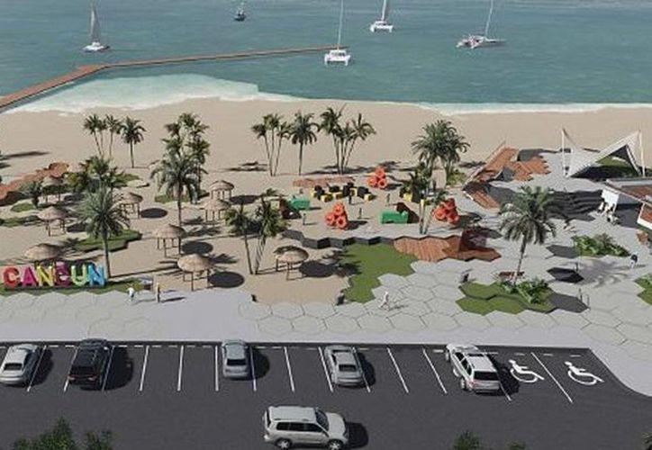 El parque público Playa Langosta podría ser abierto al público el próximo 20 de diciembre. (Cortesía)