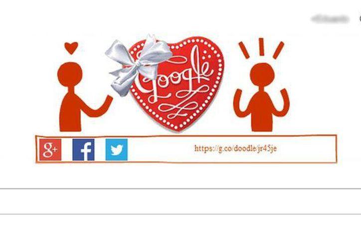 Google celebra el Día del Amor y la Amistad con un <i>doodle</i> interactivo. (Captura de pantalla)
