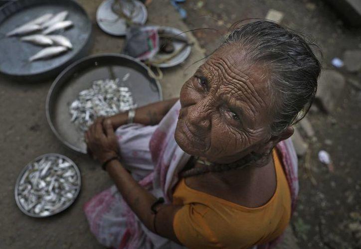 Mujer india cerca del río Brahmaputra. (Agencias)