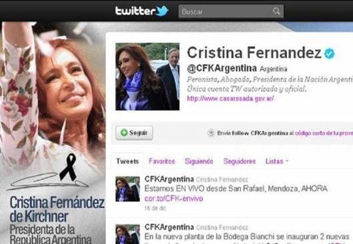 Cristina Fernández encabeza a los líderes latinoamericanos más influyentes en Twitter. (argentina.ar)