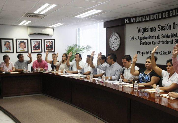 Durante la XX sesión de Cabildo se autorizó una línea de crédito de 150 millones de pesos para Solidaridad.  (Redacción/SIPSE)