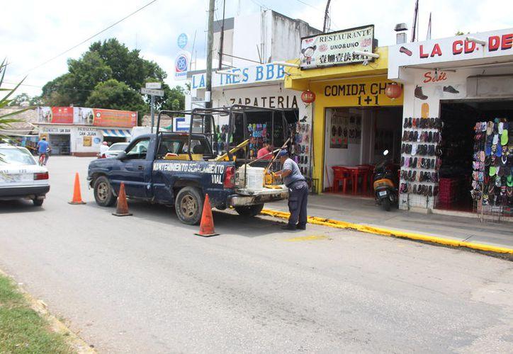 Del total del parque vehicular registrado en la Dirección de Seguridad Pública, 12 están en mal estado, 10 en bueno y siete en regular. (Jesús Caamal/SIPSE)