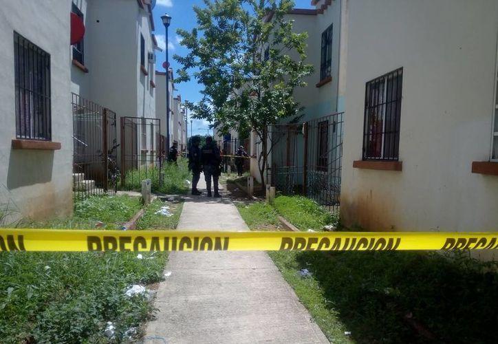 El presunto secuestro fue en una de las viviendas del fraccionamiento. (Eric Galindo/SIPSE)