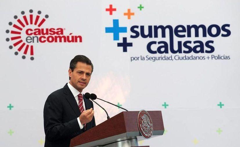 """""""La forma en que el crimen se comporta exige de las policías una mayor profesionalización"""", dijo el mandatario. (presidencia.gob.mx)"""