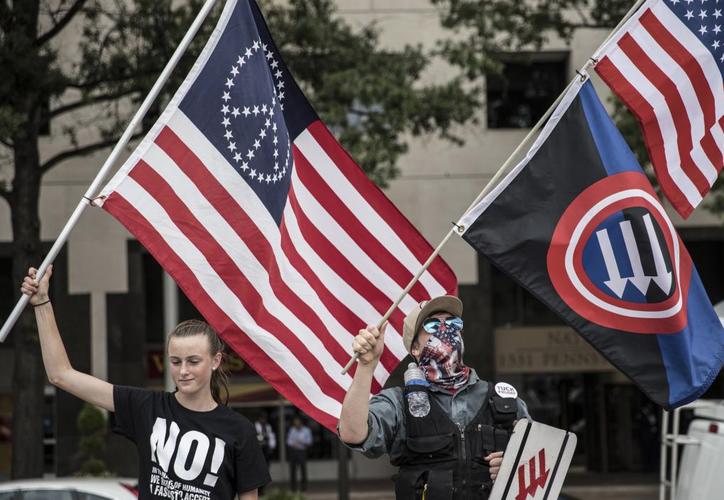 Organizadores pidieron acudir a la marcha sin  banderas nazis y sólo banderas del país y de los estados sureños. (Foto: Twitter)