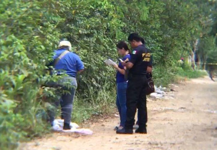 Elementos de la policía municipal se trasladaron al lugar de los hechos. (Redacción)
