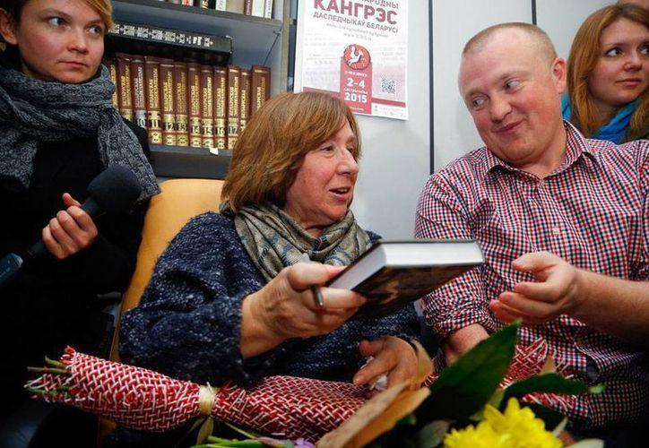 Svetlana Alexievich, escritora bielorrusa, ganó el Premio Nobel de Literatura 2015. (AP)