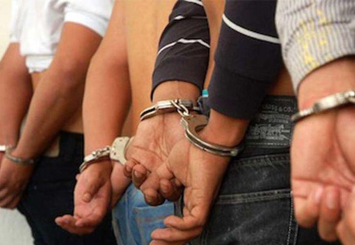Los cuatro implicados fueron trasladados a las instalaciones de la Secretaría Municipal de Seguridad Pública. (Foto: Contexto)