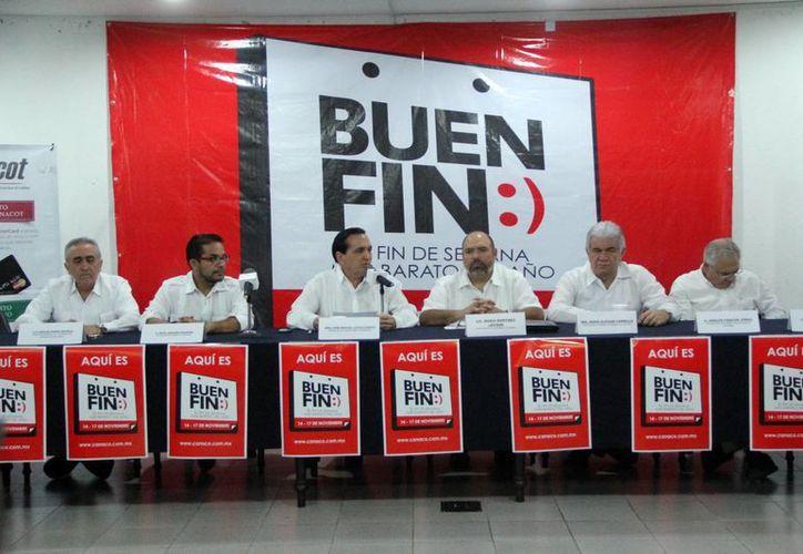 Ayer se ofrecieron en la Cámara de Comercio de Mérida detalles de la campaña el Buen Fin. (José Acosta/SIPSE)