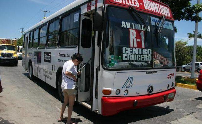 El transporte de la zona hotelera recortará sus rutas. (Redacción)