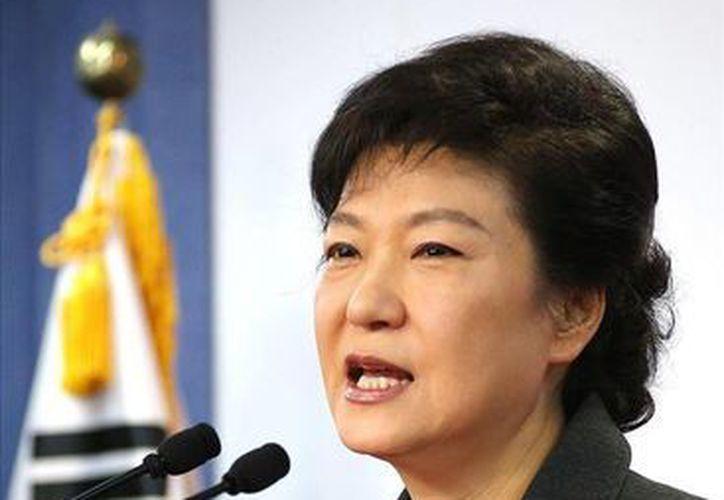 La presidenta de Corea del Sur, Park Geun-hye ordenó el despliegue de aviones de combate estadounidenses, para contraatacar inmediatamente. (EFE)