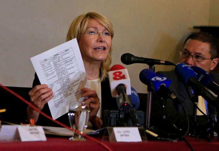 Luisa Ortega pidió en el exilio una orden contra el presidente Nicolás Maduro. (excelsior.com)