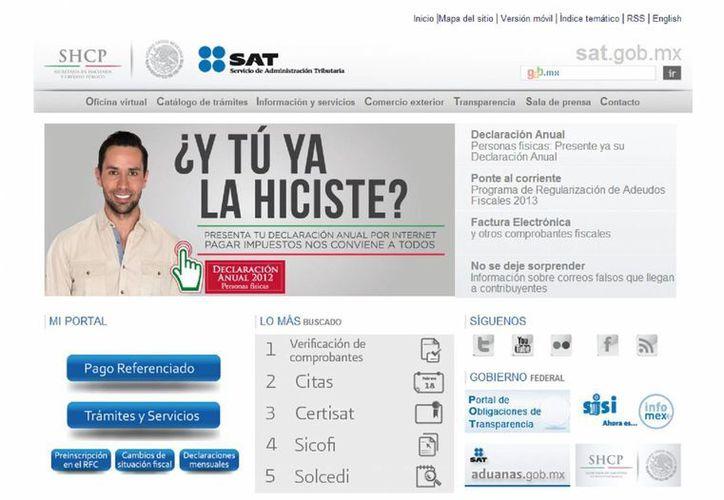Para el apoyo a los contribuyentes existe atención vía chat a través de su portal, vía telefónica y personal con previa cita. (Captura de pantalla)
