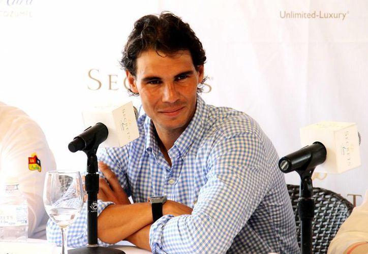 Rafael Nadal, exnúmero uno del mundo, vuelve a pisar tierra acapulqueña desde 2005. (Notimex)